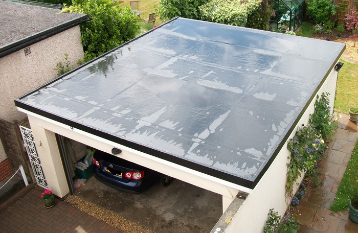new flat garage roof in glagow
