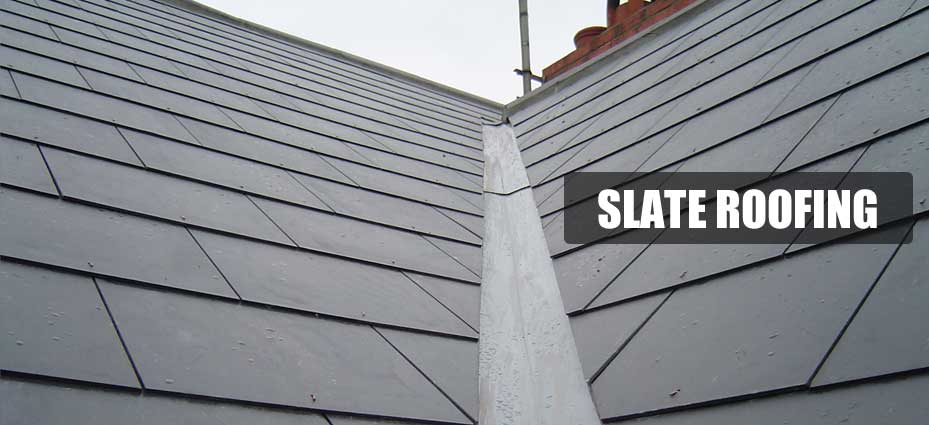 slate roof and valleys